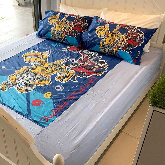 床包 / 雙人【變形金剛勇氣篇】含兩件枕套  人氣卡通授權  混紡精梳棉  戀家小舖台灣製ABE201