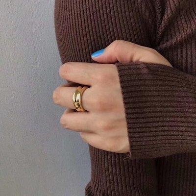 Thick ring 造型開口厚戒指 Simple Modern [正韓] 韓國連線 【NN193】