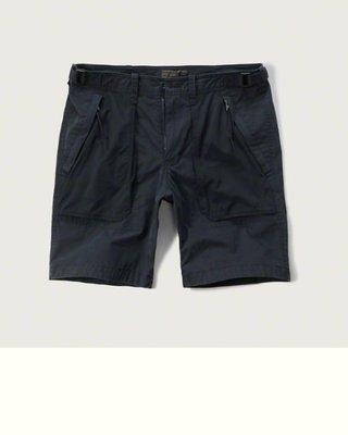 Maple麋鹿小舖 Abercrombie&Fitch * AF 深藍色休閒工作短褲 * ( 現貨33號 )