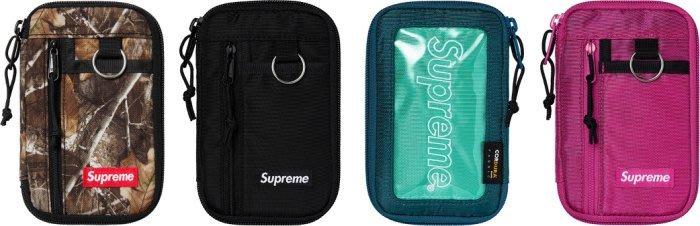 沃皮斯§Supreme 47th Small Zip Pouch 錢包 護照夾 樹紋/黑