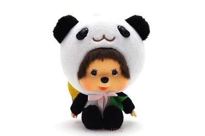 ☆╮泰迪學園╭☆日本Sekiguchi超人氣夢奇奇MONCHHICHI【可愛熊貓裝】小貓熊