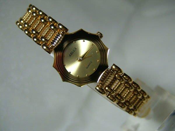 全心全益低價特賣*伊陸發鐘錶百貨* 公司貨*ABLUX 高級特殊錶殼女錶