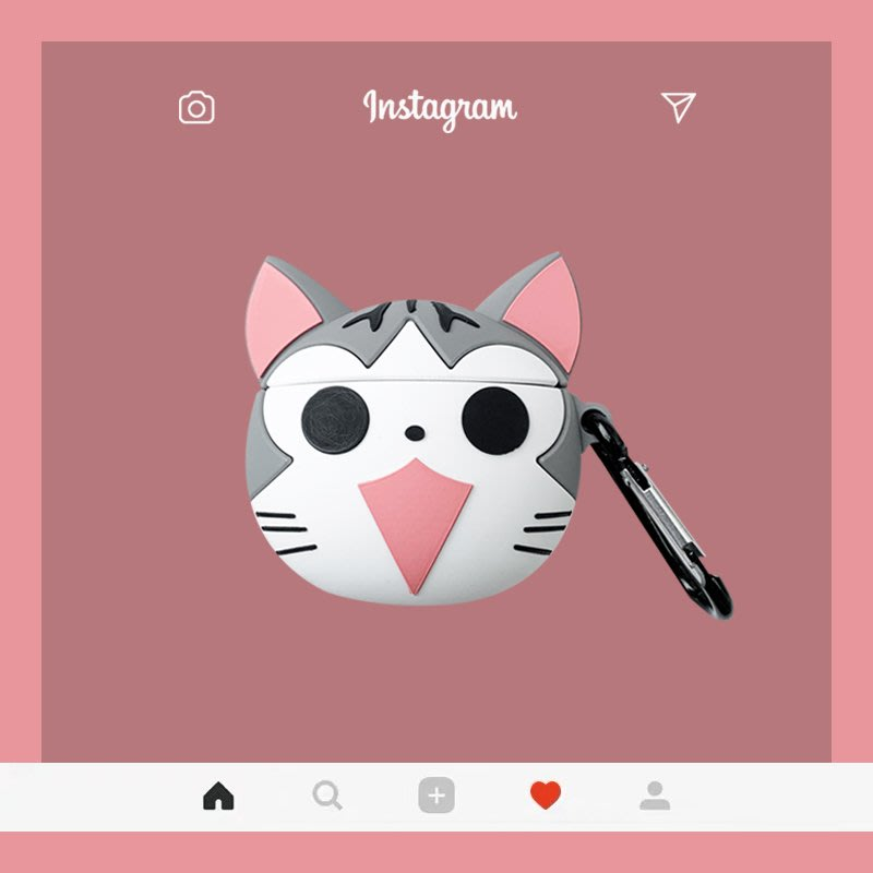【雅靜舍】起司貓AirPods1.2代保護套可愛卡通蘋果無線藍牙耳機殼硅膠日系女