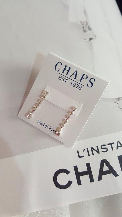 CD 歐美CHAPS專櫃品牌 水鑽 耳環情人節禮物 現貨