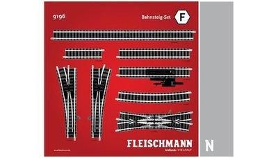 傑仲 博蘭 FLEISCHMANN 鐵軌零件 Track pack Platform Set F 9196 N