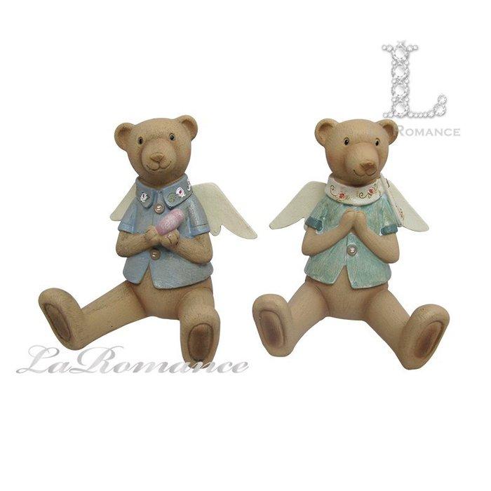 【芮洛蔓 La Romance】 德國 Heidi 童趣家飾 - 天使小熊擺飾 (兩款) / 童趣動物 / 小孩、兒童房