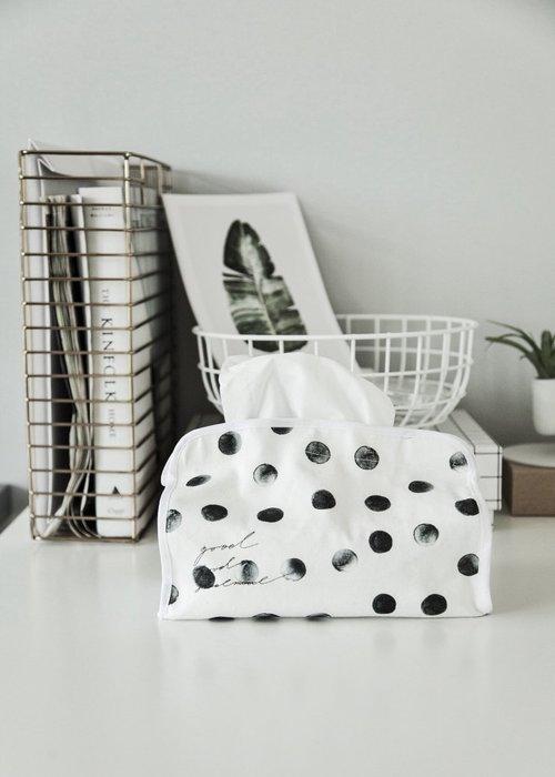 - Meiprunus -原創 設計 全棉 圓點 水玉 面紙盒 面紙套 抽紙套 客廳 床頭櫃 廁所 浴室