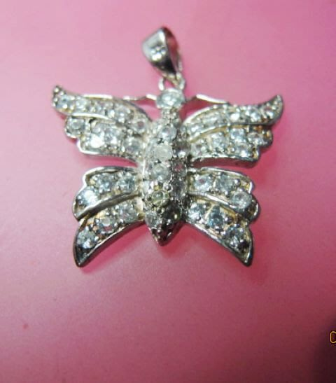 [一品軒庫存促銷品]925純銀滿天星蝴蝶造型.