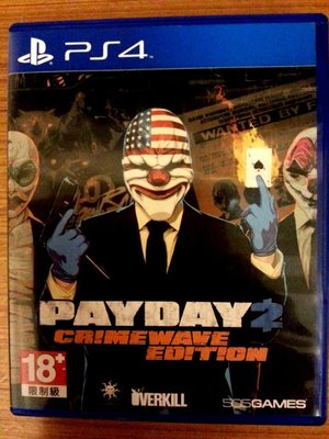 PS4 劫薪日 2 犯罪狂潮 英文版 英文 payday 2 crimewave edition 只出英文