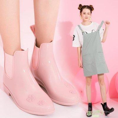 雨鞋 低筒雨鞋女防滑短筒正韓時尚平底可愛雨靴女士水鞋成人  快速出貨