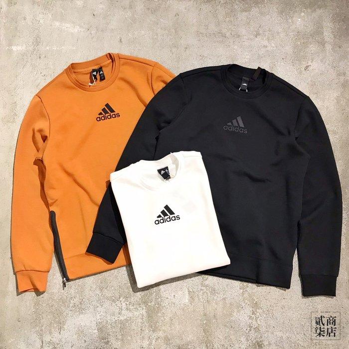(貳柒商店) adidas U1 GFX 男 大學T 太空棉 衛衣 橘 FJ0264 黑 FJ0252 白 FJ0253