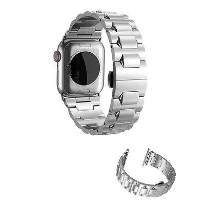 【現貨】ANCASE hoco Apple Watch (38/40mm) 格朗鋼錶帶-銀色款 贈送拆錶帶工具套裝