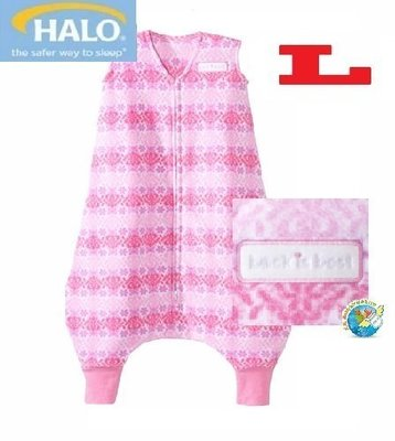 X.H. Baby【美國 HALO】SleepSack Early Walker 防踢被 背心 睡袋 秋冬刷毛 粉紅幾何