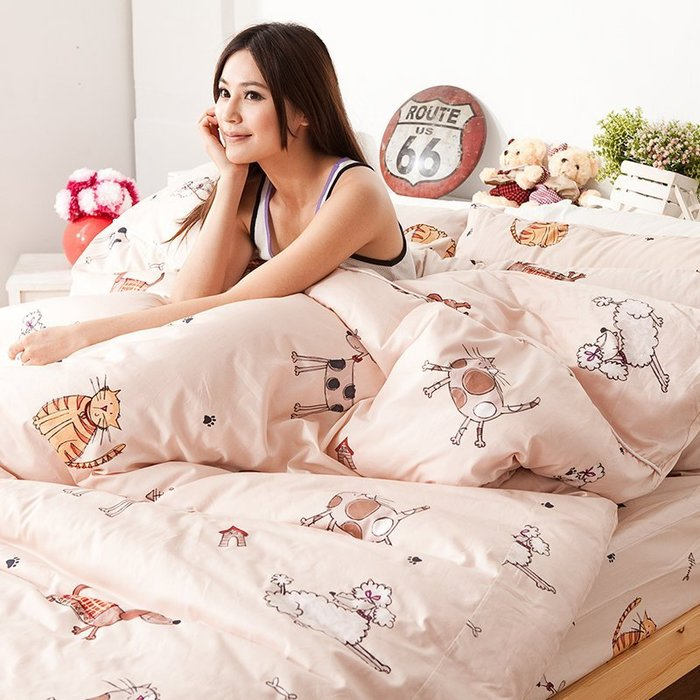 兩用被 / 雙人-【可愛家族】6x7尺雙人鋪棉兩用被套,戀家小舖,台灣製-AAS205