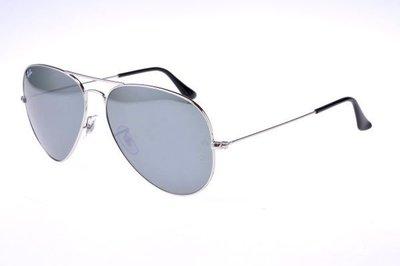 ☆鏡典眼鏡☆公司貨真品 RAYBAN 雷朋眼鏡~優惠中~3025~62mm大尺寸~503銀框水銀鏡片 高雄市