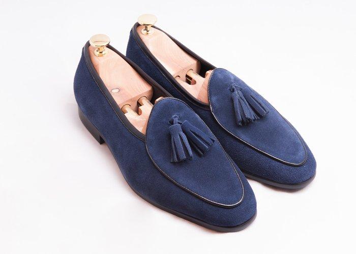 流蘇比利時樂福鞋:麂皮真皮男鞋皮鞋-深藍色-免運費-[LMdH直營線上商店]E1B26-39