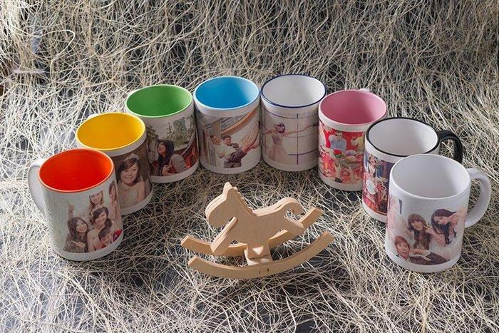 內彩馬克杯99元 自行排版 相片 影像印刷 工廠直營  照片馬克杯 杯子  鑰匙圈 婚禮小物 吸水杯墊 ち