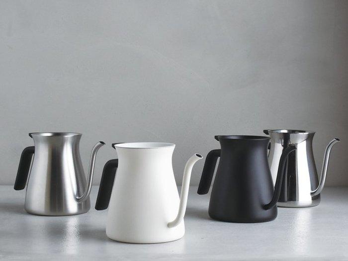 日本【KINTO】FARO 不鏽鋼咖啡壺 手沖壺 細口壺 滴水壺 900ml - 霧黑、不銹鋼