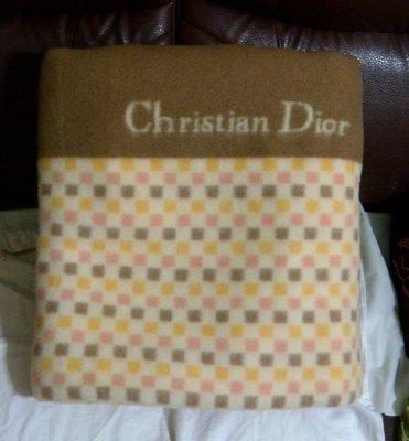 不扎不刺 4888元含運費 (未使用過) Christian Dior雙色雙面用毛毯 單人毛毯(可當地毯)雙人毛毯