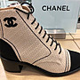 Chanel sneakers CC logo 休閒鞋 藍 /  粉紅...