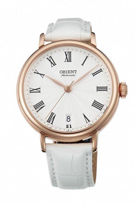 ORIENT 東方錶 ELEGANT系列 羅馬假期復古機械錶 皮帶款 白色 FER2K002W