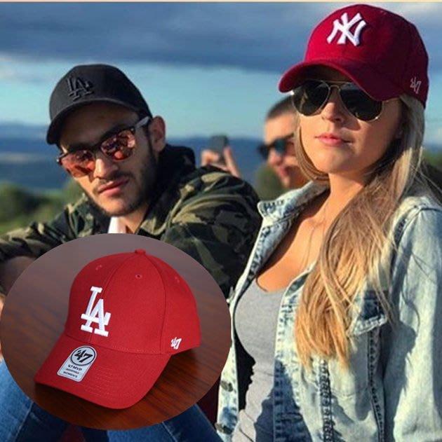 MLB 紐約洋基隊 洛杉磯道奇隊  47 Brand 紅色現貨!!