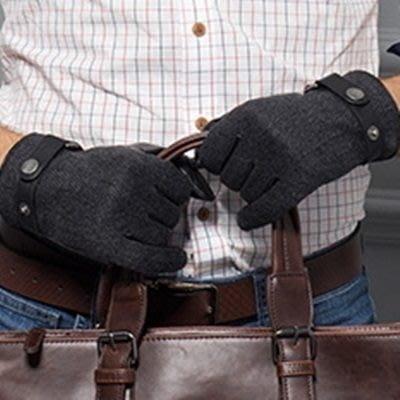 羊毛手套 觸控手套-商務真皮防寒保暖男配件72q18[獨家進口][米蘭精品]