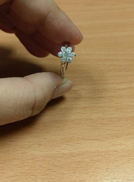 花朵造型鑲鑽 KP 電鍍