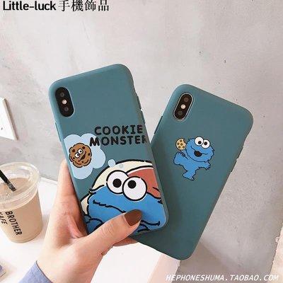 Little-luck~莫蘭迪色卡通蘋果X手機殼iPhone xs max/8plus/7/xr軟套6s男女