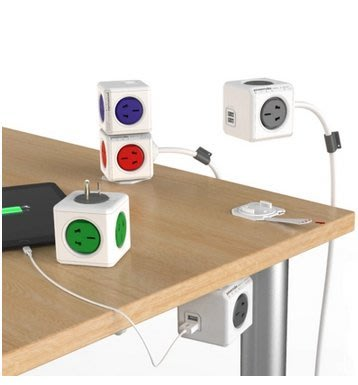 PowerCube模方插座 創意可擴展USB立方體魔方排插接線板 荷蘭設計