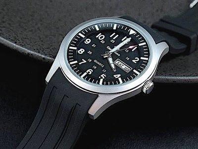 168錶帶配件 /台灣精品日本SEIKO精工原廠VX43石英機芯強悍造型軍風防水石英錶,22mm矽膠帶
