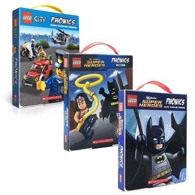 樂高城市+英雄自然拼讀36冊盒裝Lego City Super Heroes Phonics3-6-8歲學習故事 學樂出