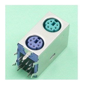 PS2 雙層插座 PS2插座 鍵盤滑鼠插座 PS/2雙層座  2個   [143750-030] yahoo f