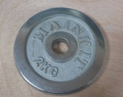~鐵肥之家~047006 啞鈴電鍍片。2kg (一組2片)。330元