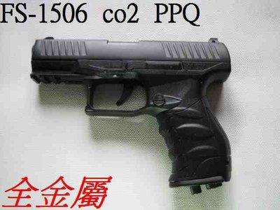 生存遊戲-MADE IN TAIWAN AC-1005 PPQ全金屬CO2直壓槍 (BB槍BB彈瓦斯CO2空氣玩具