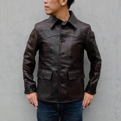 日本品牌 Y2 Leather Car Coat 手擦色馬皮皮衣 經典外型 現貨供應