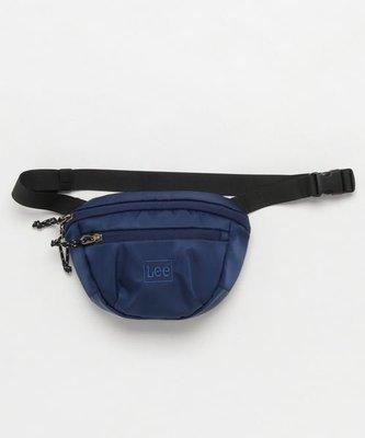 日本 LEE 深藍色厚身尼龍布 斜咩 腰包 ($220 包順豐)