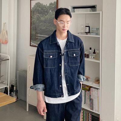 正韓男裝 霍華德車線牛仔夾克 SET UP 套裝 / 2色 / NMO2200 KOREALINE 搖滾星球