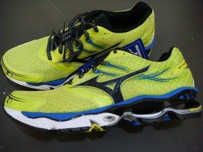 【老闆瘋了】Mizuno Wave CREATION 14 美津濃 男款頂級慢跑多功能鞋 螢光綠 8KN-30027