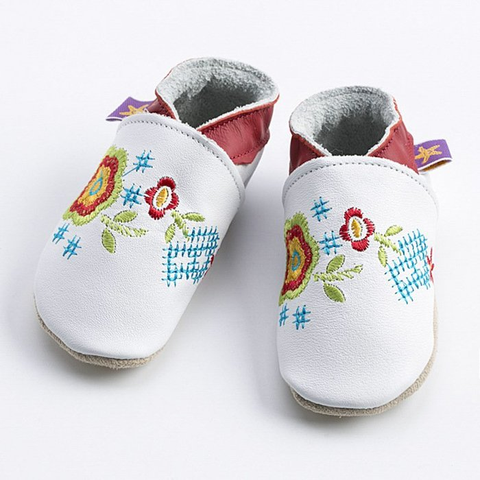 〖洋碼頭〗英國Starchild全牛皮軟底學步鞋薔薇白款 L2850