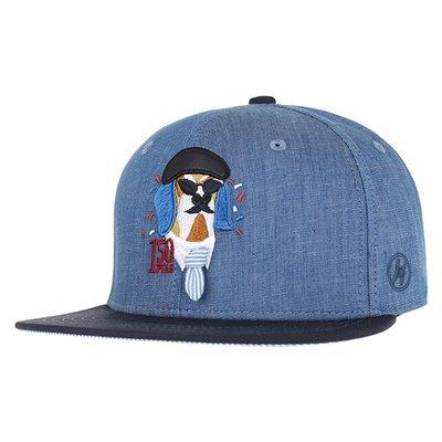 【Easy GO 韓國潮牌代購】HATS ON -BEYOND CLOSET單寧牛仔狗狗 平薝式後扣棒球帽 特價↘