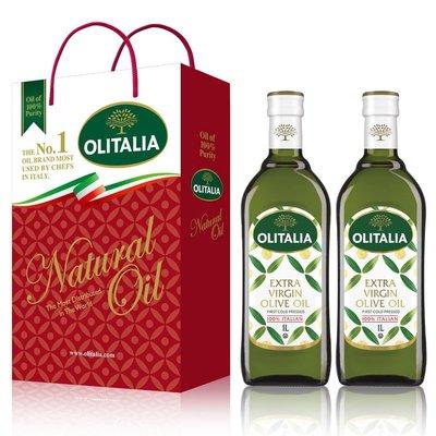 ~* 萊康精品*~最新包裝 義大利 Olitalia 奧利塔 特級冷壓橄欖油 extra virgin 1000ml*2