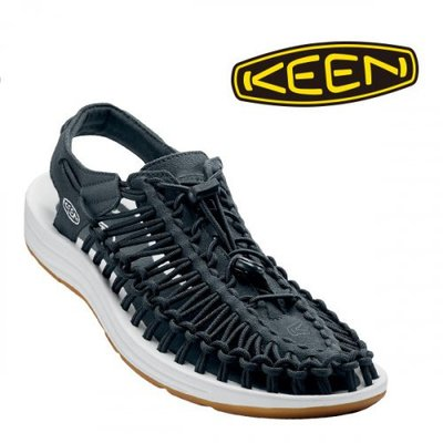 =CodE= KEEN UNEEK SLICE FADE SANDALS編織彈性綁繩涼鞋(深藍)1017037 拖鞋 男