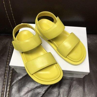 真皮涼鞋DANDT時尚羊皮魔鬼粘一字帶涼鞋(21 JUN) 同風格請在賣場搜尋 AL 或 歐美女鞋