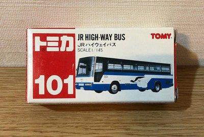 《GTS》絕版紅標TOMICA多美小汽車NO101 JR高速巴士1/145貨號29643