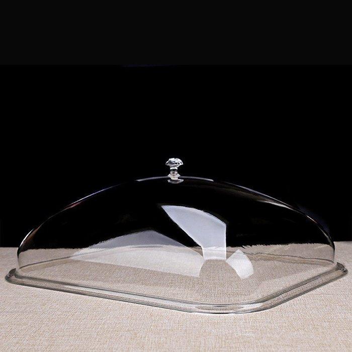 聚吉小屋加厚長方形食品蓋亞克力pc餐蓋塑料透明食物罩菜蓋面包點心蓋子(規格不同價格不同)