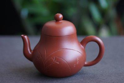 【敦敦壺】-【呂芳芳】實力派陶手~思亭壺~200cc朱泥大紅袍茶壺(T598)