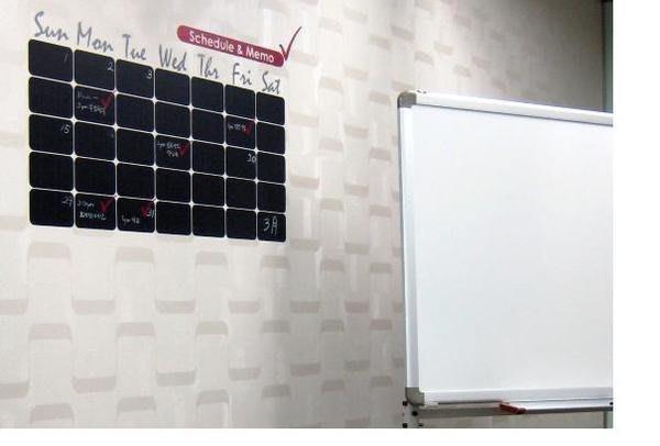 小妮子的家@黑板式牆上日曆記事壁貼/牆貼/玻璃貼/ 磁磚貼/汽車貼/家具貼/冰箱貼
