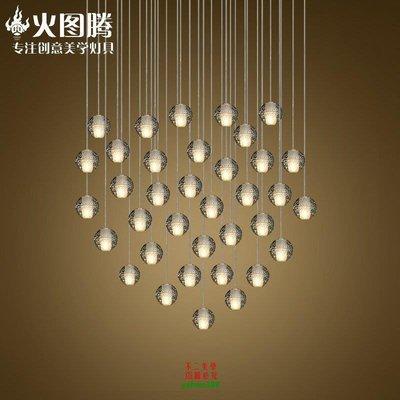 【美學】北歐玻璃球吊燈美式單頭led流星雨吊燈水晶球吊燈MX_1772