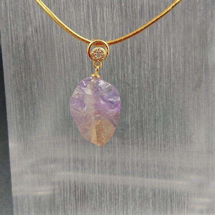 ~水晶花園~ 天然能量水晶 紫黃晶墜子(不含鍊子)